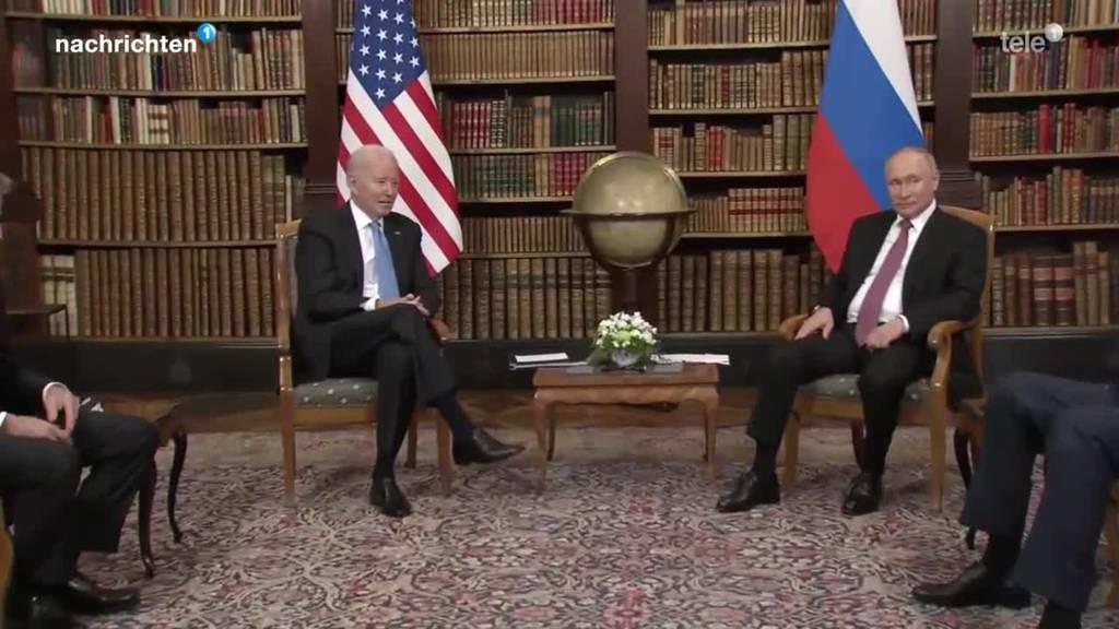 Vladimir Putin und Joe Biden in Genf