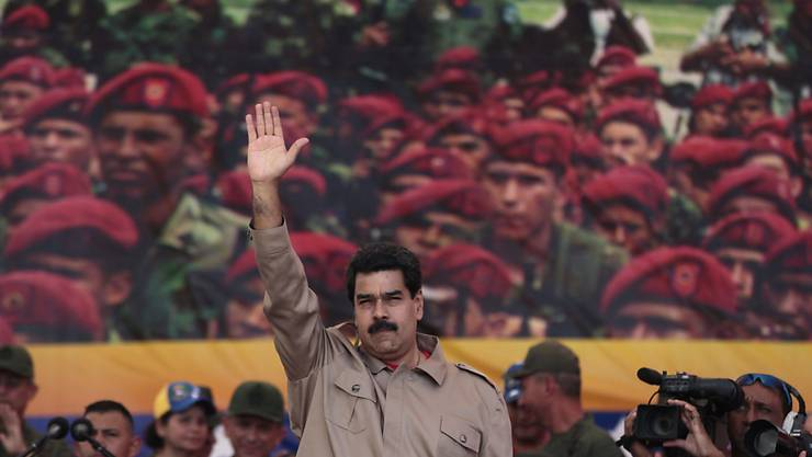 Weiss die Armee hinter sich: Venezuelas Präsident Nicolas Maduro (Archiv)