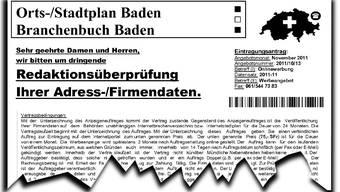 Mit einem solchen Fax versuchen Unbekannte, Firmen abzuzocken