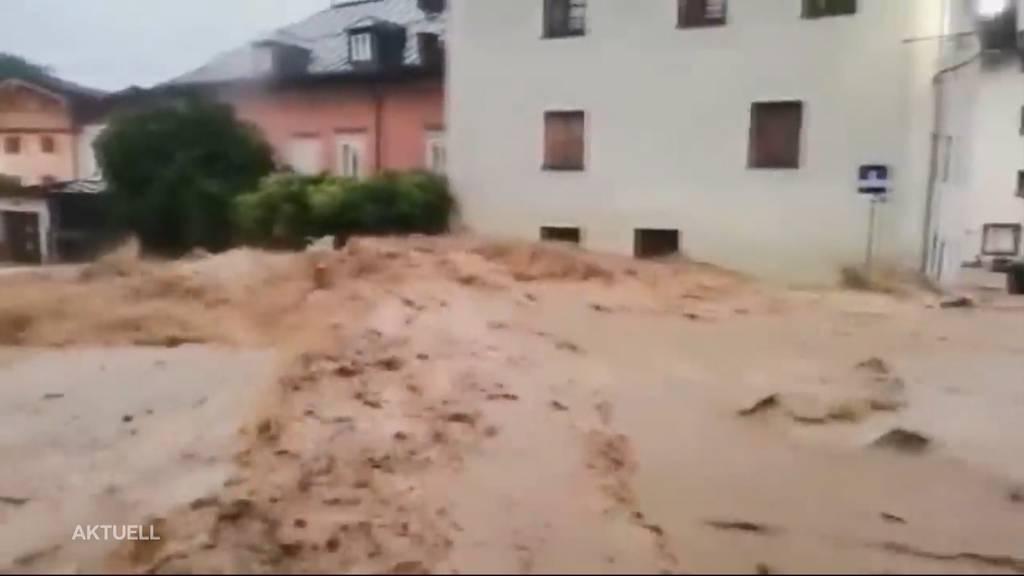 Hochwasser im Ausland: In Österreich und Deutschland kommt es zu heftigen Überschwemmungen