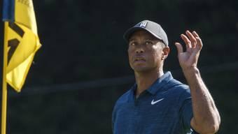 Tiger Woods ist von seinem Spiel mässig begeistert