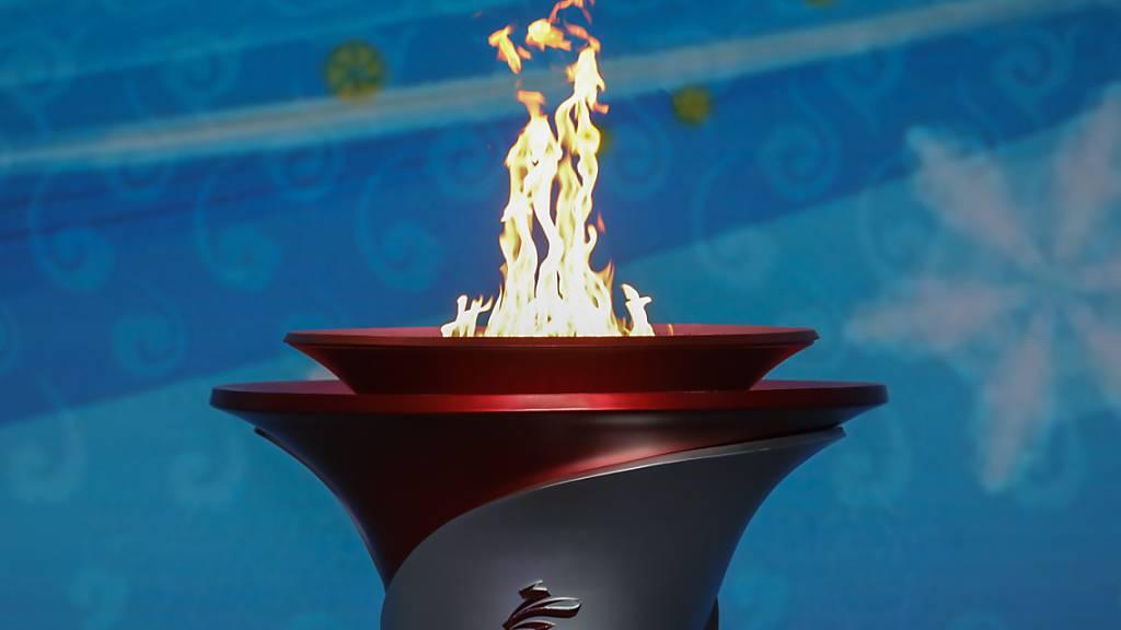 Feuer für Winterspiele in Peking eingetroffen
