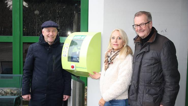 Von links Martin Wey, Manuela Grünig und Hugo Saner.