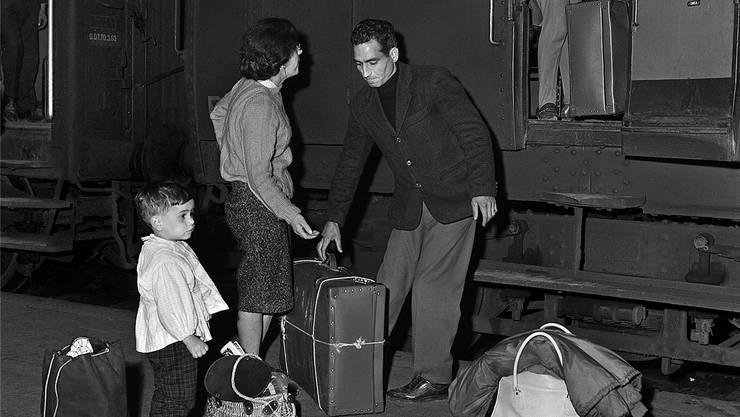 Viele italienische Gastarbeiter haben sich entgegen ihren ursprünglichen Absichten in der Schweiz niedergelassen.Key