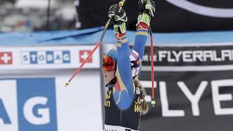 Siegerjubel: Mikaela Shiffrin gewinnt den Riesenslalom vor heimischem Publikum