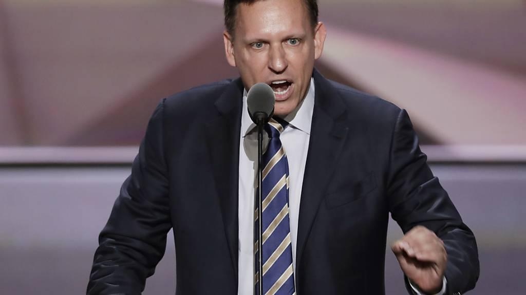 Unternehmer Peter Thiel ist bekannt als Fan von US-Präsident Donald Trump (Archivbild).