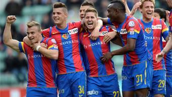 So wollen die Spieler des FC Basel am Sonntag nach dem Spiel gegen Lausanne mit ihren Fans feiern. key
