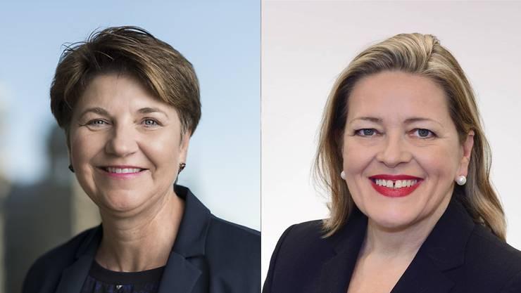 Viola Amherd (l.) und Heidi Z'graggen.