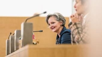 Grossratspräsidentin Renata Siegrist blickte in ihrer Schlussansprache auf ein bewegtes Jahr zurück.