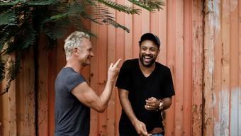 Zusammen bombastisch viel Vergnügen: Die britische Rock-Ikone Sting und der jamaikanische Pop-Reggae-Sänger Shaggy.
