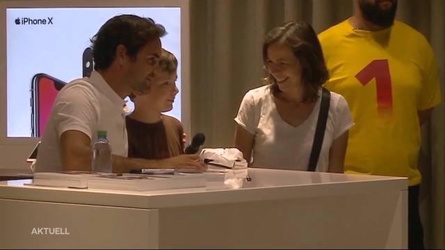 Roger Federer im Shoppi Tivoli