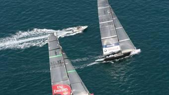 Oracle für einmal vor dem Team New Zealand.