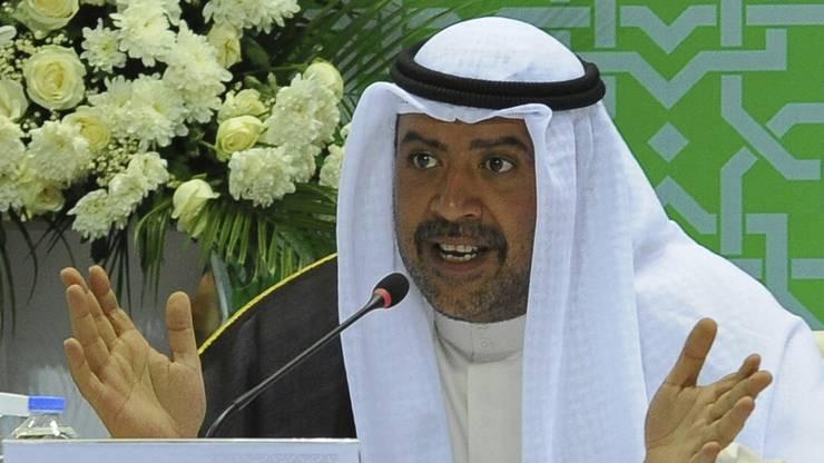 Ahmad Al-Sabah in traditioneller Kleidung.