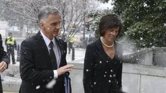Bundespräsident Burkhalter auf dem Weg zum Senat in Washington