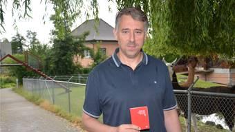 SP-Bezirkspräsident Stefan Dietrich ist jetzt Schweizer und kandidiert im Herbst für den Nationalrat. Bild: Fabio Vonarburg