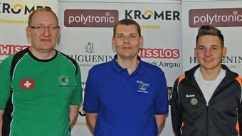 Das Siegertrio im A-Match: Roland Zach (ZH/2.), Dieter Grossen (AG/1.) und Marvin Greppmayr (Vorarlberg/3.)