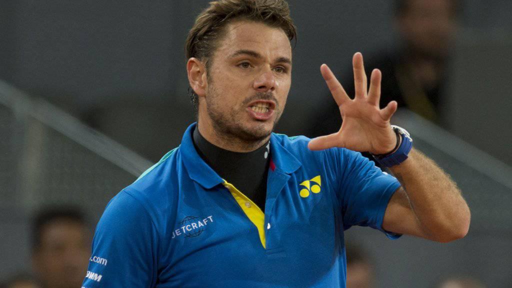 Scheiterte in der 2. Runde von Madrid an Benoît Paire: der Waadtländer Stan Wawrinka