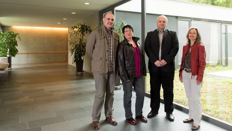 Sie führen das Alterszentrum Kehl in die Zukunft (v. l.): Roland Wyss, Daniela Oehrli, Eduardo Forgas, Hildegard Hochstrasser.