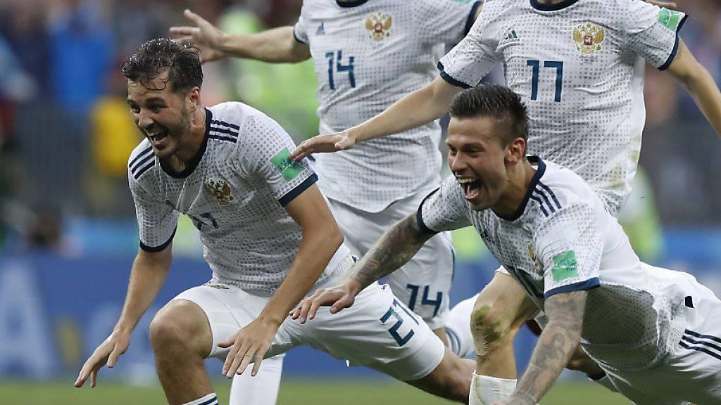 Die russischen Spieler sind überraschend zu Helden geworden
