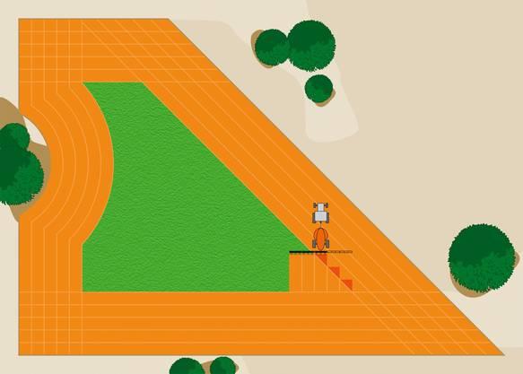GPS-gesteuerte Maschinen vermeiden Überlappungen und reduzieren so die Herbizide.