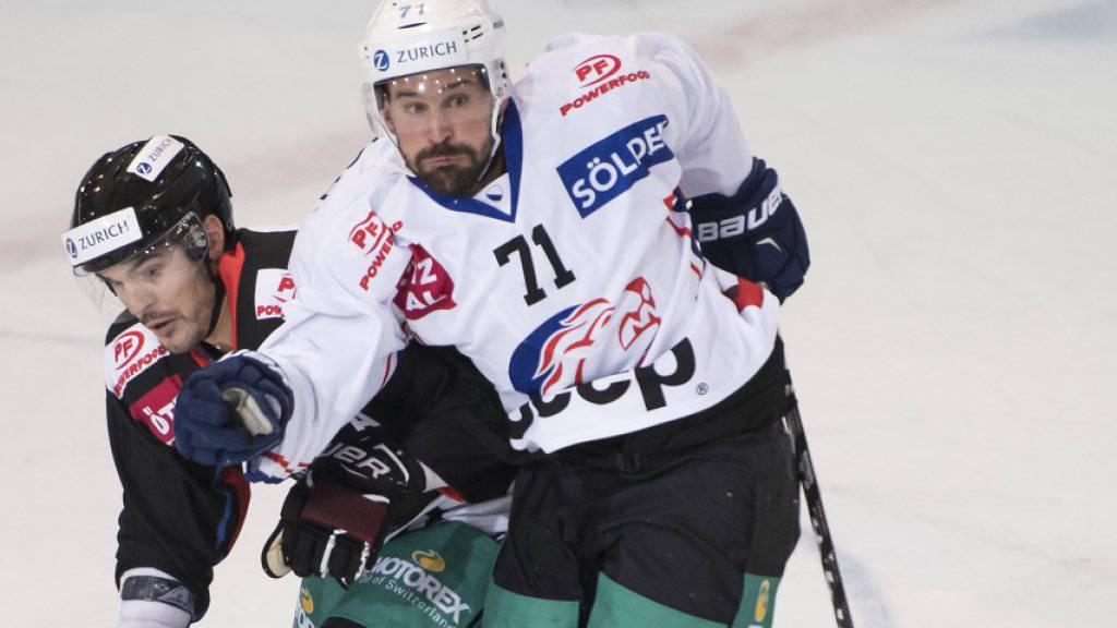 Patrik Bärtschi bei einem seiner letzten Einsätze auf NLA-Eis