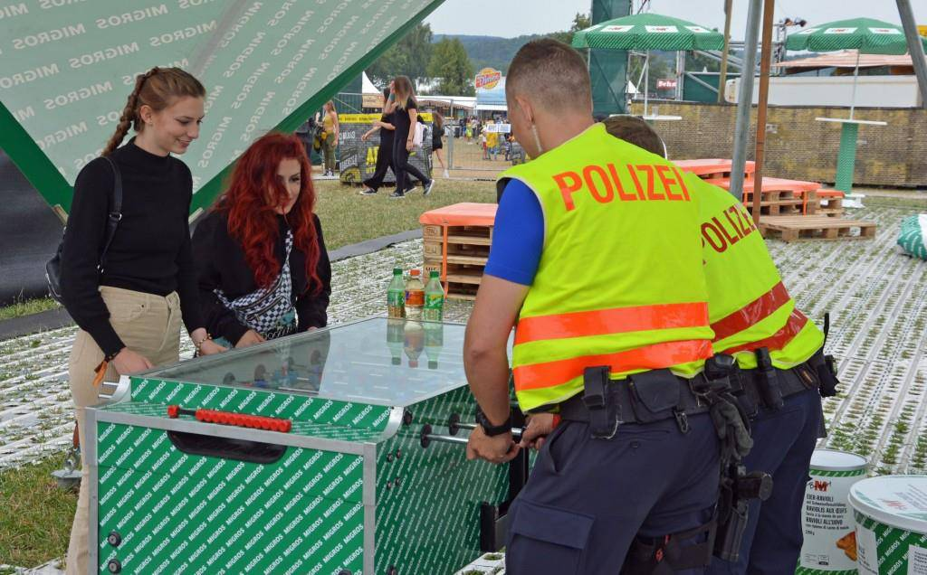 Die Polizei am Openair Frauenfeld 2019 (© Facebook/Kantonspolizei Thurgau)