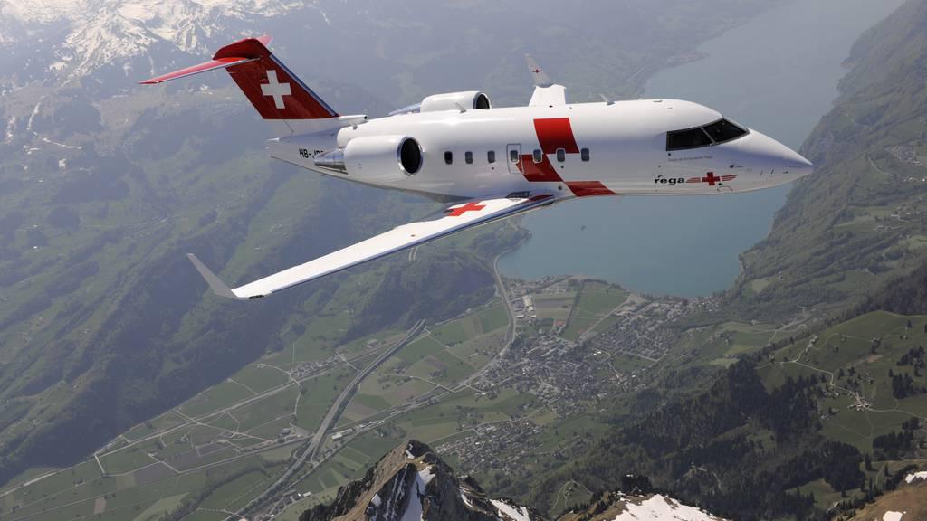 Rega-Ambulanzjet nach Norwegen geflogen