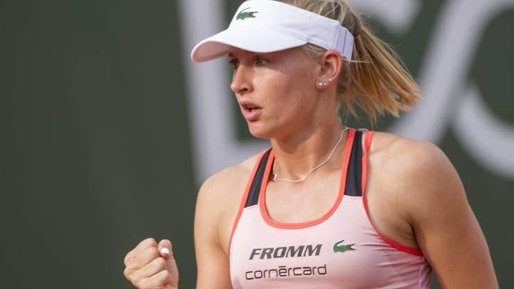 Jil Teichmann qualifizierte sich in Lausanne mit Siegen über Timea Bacsinszky (Dienstag) und Simona Waltert (Donnerstag) für die Viertelfinals