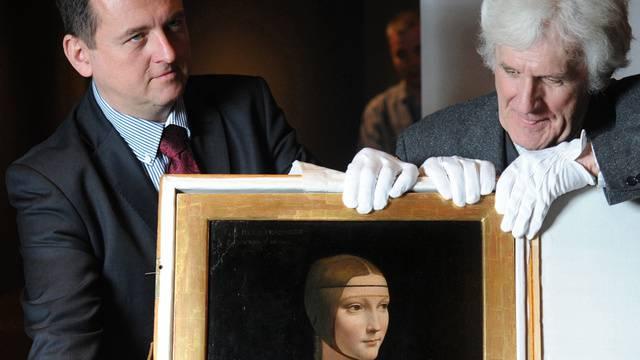 """Borkenkäfer haben dem Gemälde """"Dame mit Hermelin"""" von Leonardo da Vinci zugesetzt"""