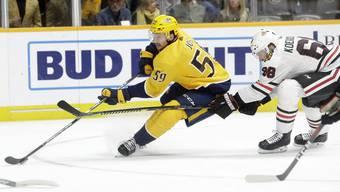 Roman Josi von den Nashville Predators ist einer von acht Schweizern, die in den NHL-Playoffs gefordert werden.