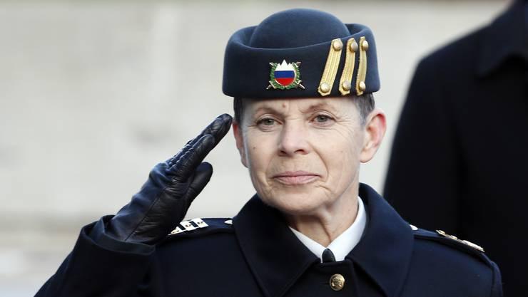Erste Armeechefin Sloweniens: Alenka Ermenc.