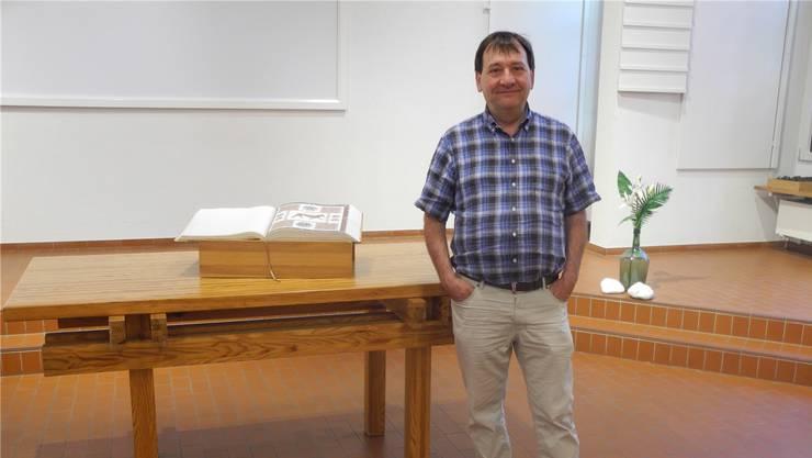 Acht Jahre lang war Pfarrer Peter Senn im reformierten Kirchgemeindehaus Gässli in Magden tätig.