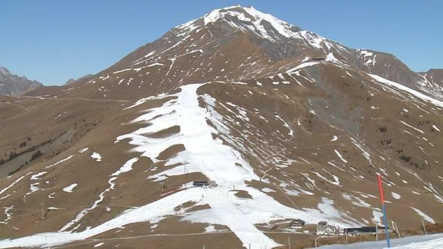 Skifahren auf dem Schneeband