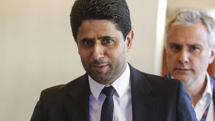 PSG-Präsident Nasser Al-Khelaifi (im Vordergrund) wurde ins UEFA-Exekutivkomitee gewählt