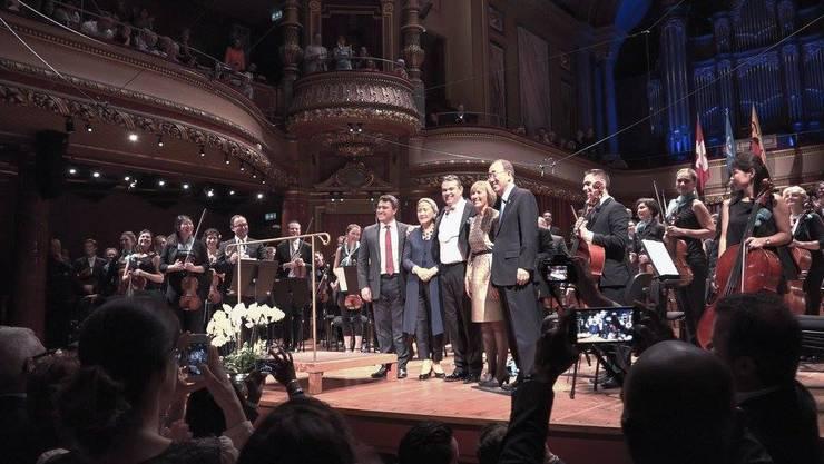 Das Uno-Orchester bei der Verabschiedung von Generalsekretär Ban Ki-moon im Oktober 2016.