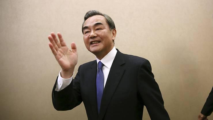 Wang Yi, Chinas Aussenminister, forderte Zurückhaltung auf der koreanischen Halbinsel. (Archivbild)