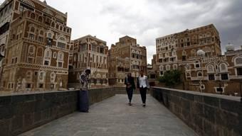 Jemens Hauptstadt Sanaa, aus der Präsident Hadi vertrieben wurde