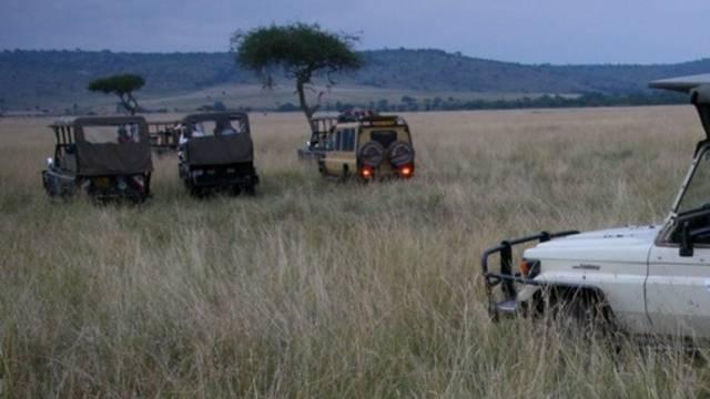 Jeeps mit Touristen in einem kenianischen Nationalpark (Symbolbild)