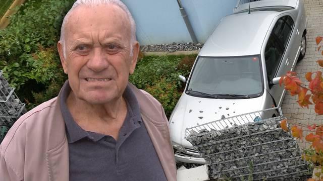 Knapp daneben: Der rüstige Rentner Bruno Bean wollte sein Auto in seine Garage parkieren – gelandet ist er in Nachbars Garten.