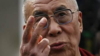 Der Dalai Lama nach dem Empfang im Weissen Haus
