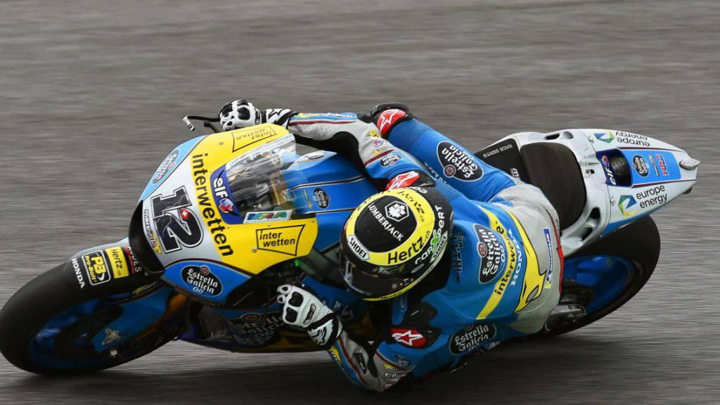 Tom Lüthi konnte als 24. im Training nur zwei Fahrer hinter sich lassen