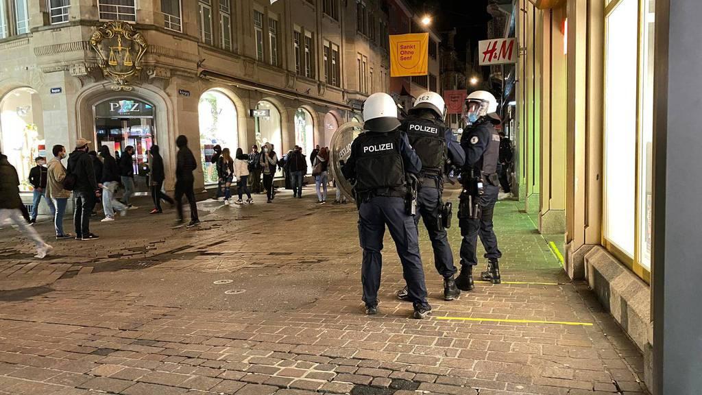 Medienkonferenz zur Krawallnacht in St.Gallen