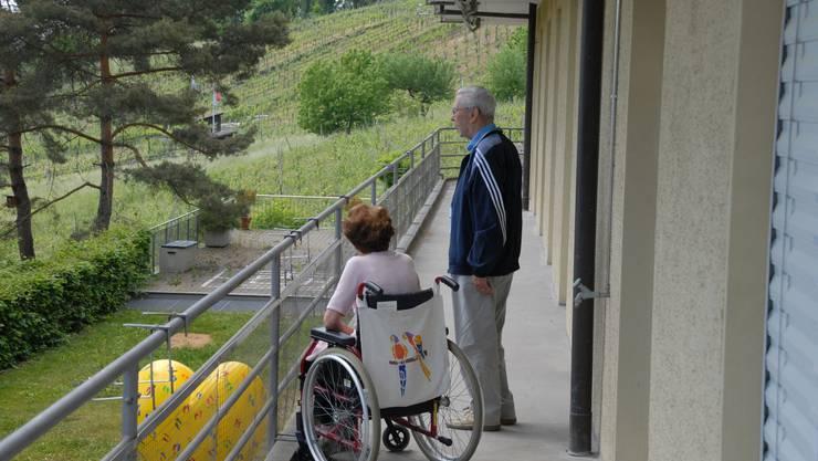 Am 13. Mai fand im «Sonnenblick» eine Begehung mit den Bewohnern des Regionalen Pflegezentrums Baden (RPB) statt.  zvg