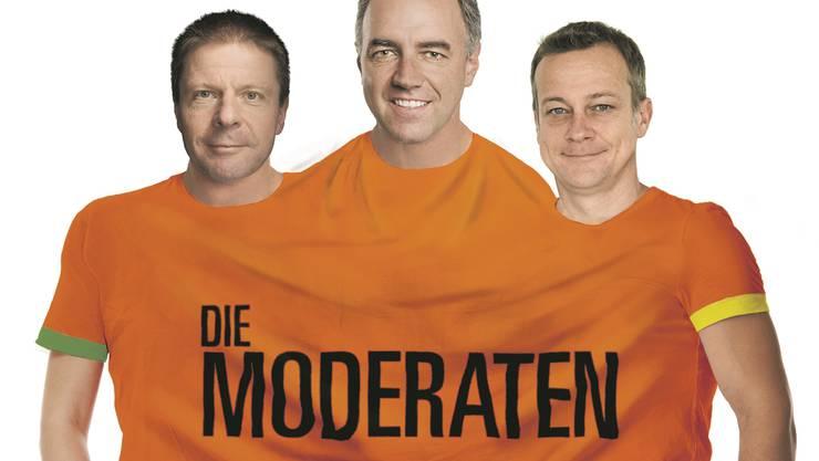 Vision einer neuen Partei «Die Moderaten»: Die «Schweiz am Sonntag» hat die drei Mitte-Chefs Martin Bäumle (GLP), Christophe Darbellay (CVP) und Martin Landolt (BDP) schon mal in ein gemeinsames T-Shirt gesteckt.