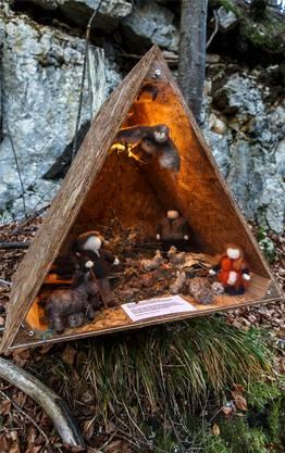 Auf dem Weihnachtsweg werden auch Geschichten von Tieren erzählt...
