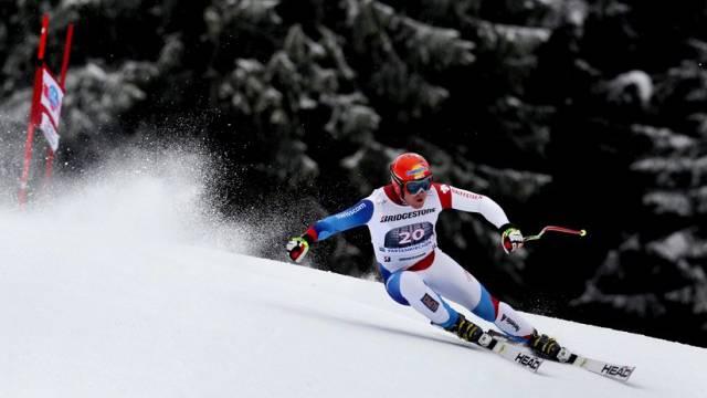 Nach der verkürzten Abfahrt in Kitzbühel gewinnt Didier Cuche auf seiner Abschiedstournee auch jene von Garmisch. Foto: Karl-Josef Hildenbrand - Keystone