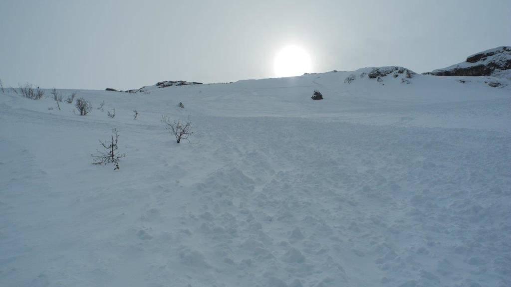 Die Lawine im Titlis-Gebiet ging um 9.20 Uhr bei Laub oberhalb von Gerschni nieder. Sie löste eine grosse Suchaktion aus.