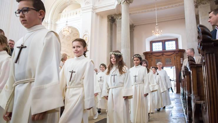 Erstkommunion in der St. Ursen-Kathedrale.