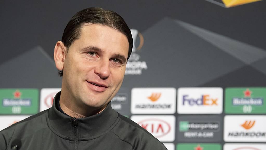 YBs Trainer Gerardo Seoane zeigt vor dem entscheidenden Match gegen Cluj Zuversicht.