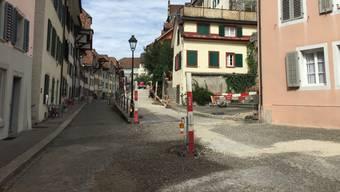 Seit Ende Februar ist die Aarauer Halde eine grosse Baustelle.